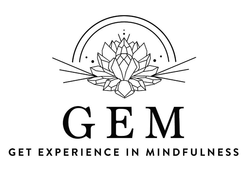 "A logo that says ""G.E.M. Get Experience in Mindfulness"