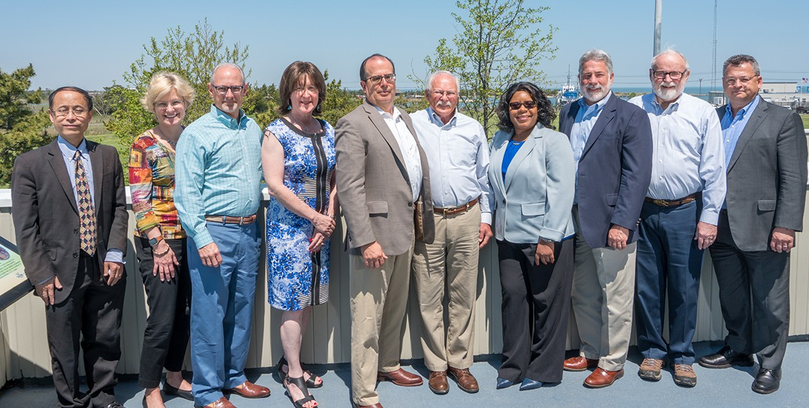 CEOE Dean's Advisory Council members photograph taken in Lewes, Del., Spring 2018.