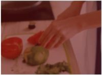 Background photo showing a person making healthy food to help control diabetes.