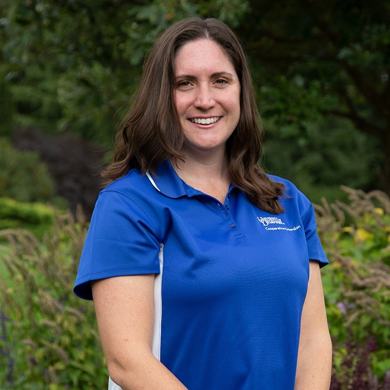 Photo of Jennifer Volk in the field Cooperative Extension