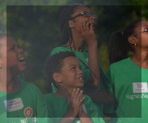 4-H Youth in green shirts