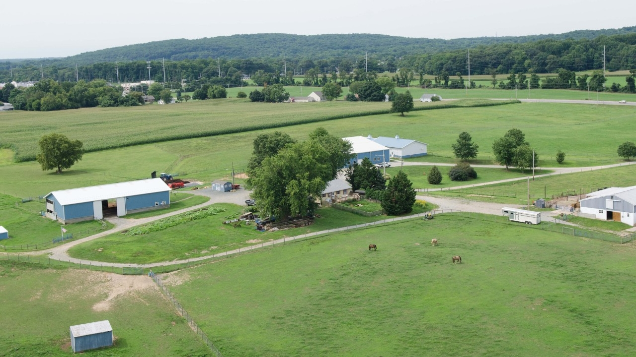Aerial photo of Webb Farm