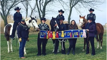 Student group photo of Equestrian Team