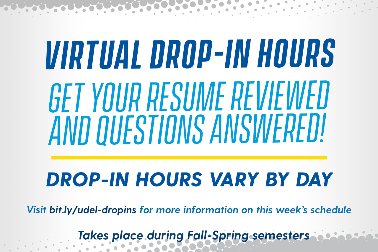 Career Services Drop-In Hours