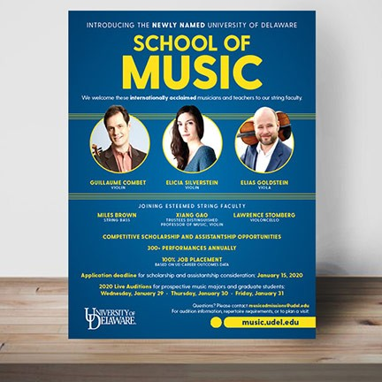 School of Music poster