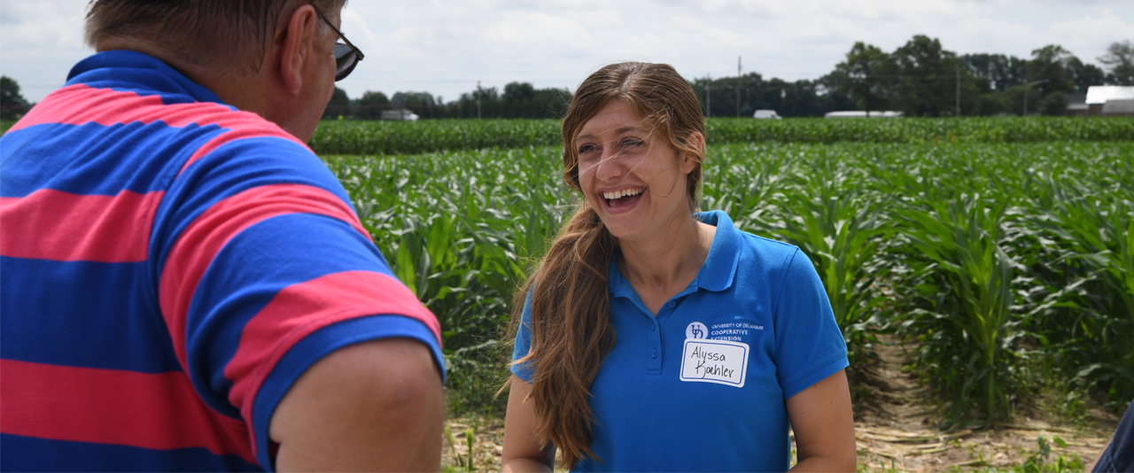 Plant Pathologist Alyssa Koehler meets with industry pros during field tours