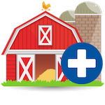 Farmer health icon