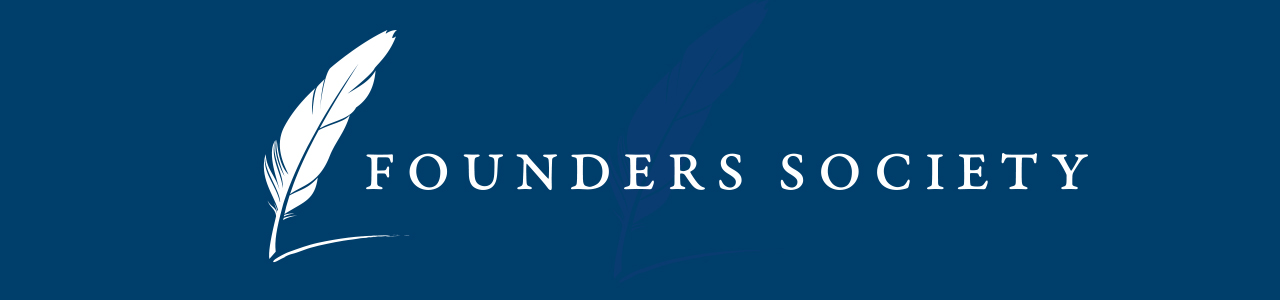 Founders Society logo header image.