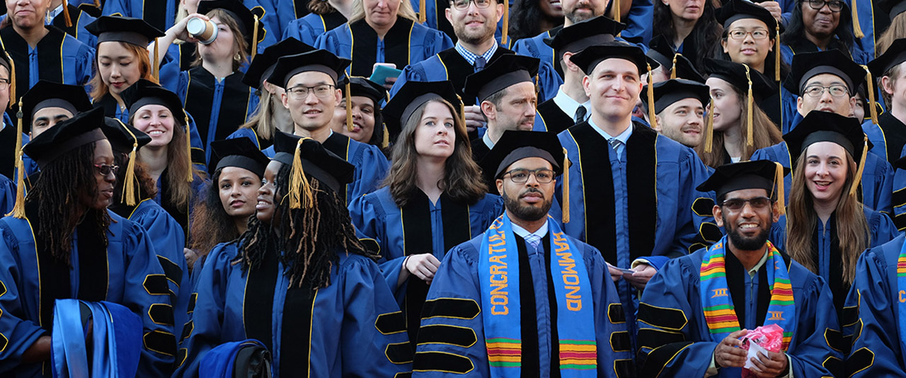 University of Delaware students at doctoral hooding ceremony