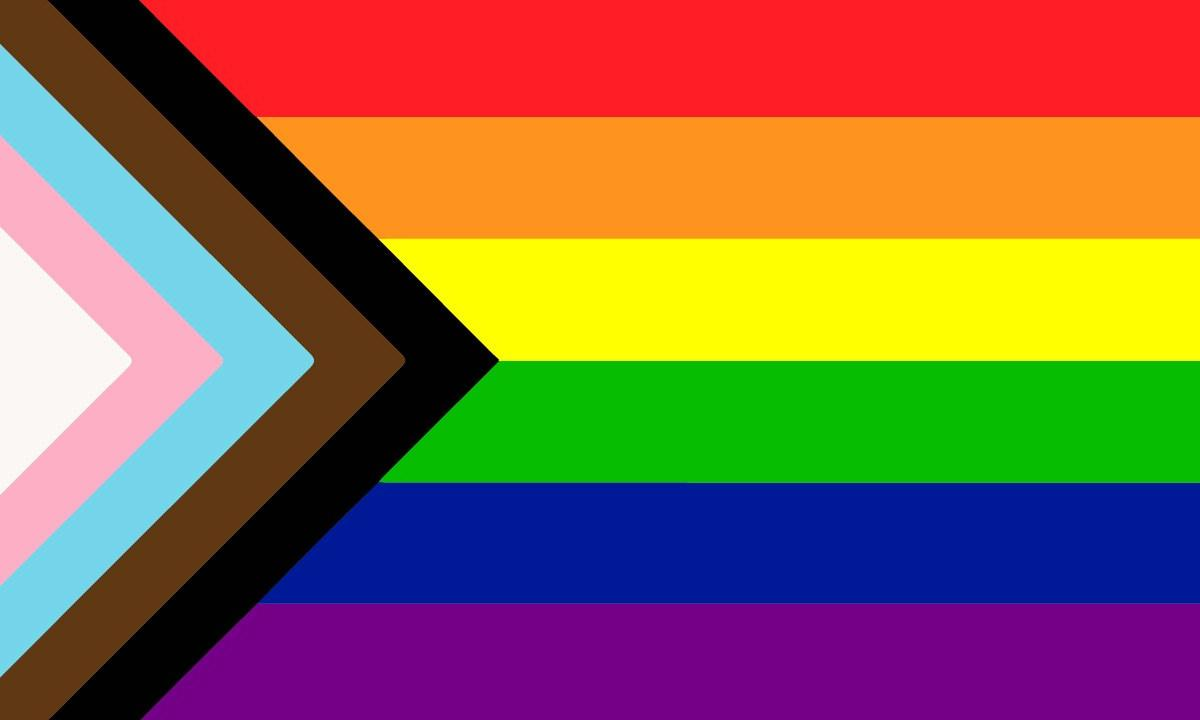 A graphic of the Pride Flag.