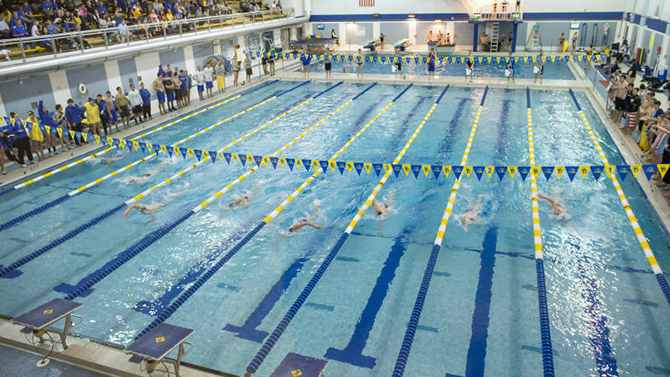 ud swimming  diving schedules