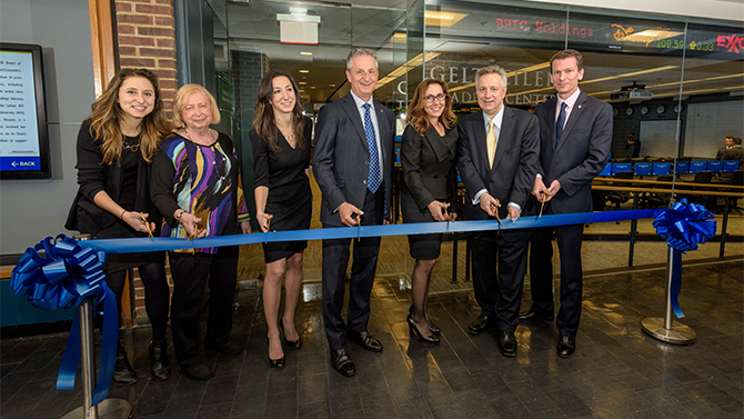 Alumni gift transforms trading center