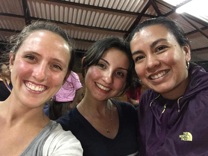 Kendra DeMicco (left) during Peace Camp in Colombia