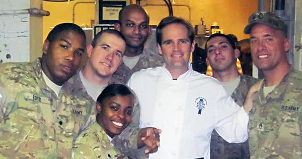 Chef John Deflieze in Afghanistan