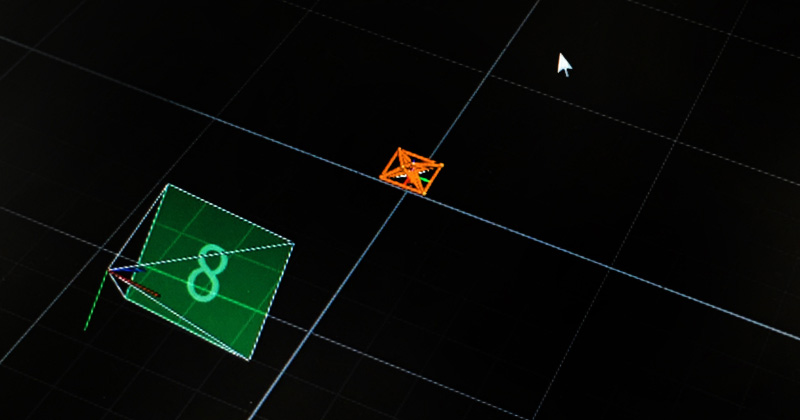 Screenshot of drone in Motion Capture System