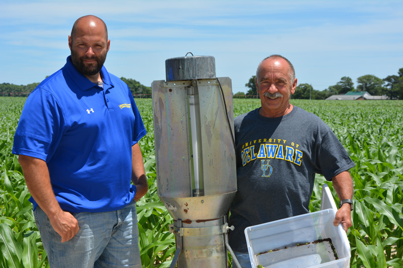 Bill Cissel, Extension agent, Integrated Pest Management (IPM), left, and Richard