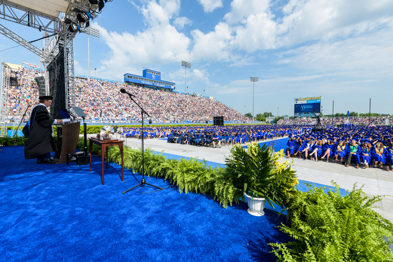 More than 21,000 people attended UD's 2018 Commencement at Delaware Stadium.