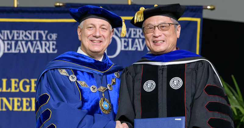 Hundreds gather to celebrate 'hooding' of UD's newest class of doctors