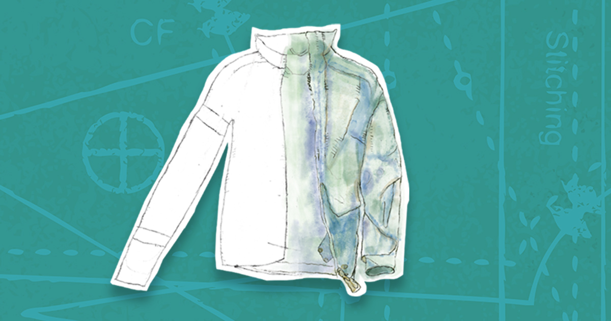 An illustration of a jacket for potential use as Henswear
