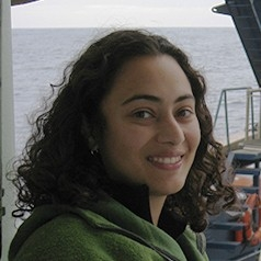 portrait of Suni Shah Walter on a research vessel