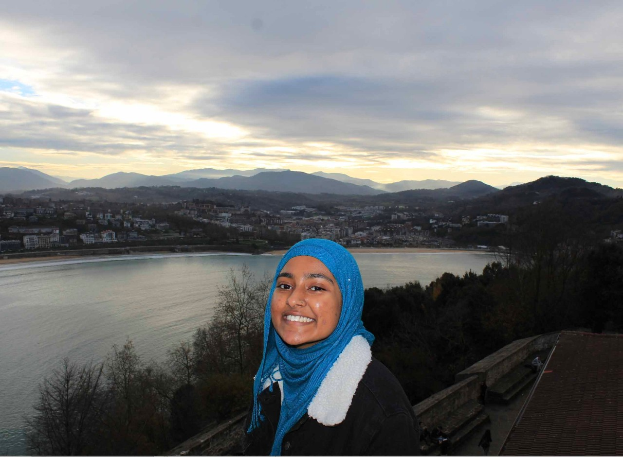 Ummeh Islam, a freshman world scholar, had the opportunity to travel to San Sebastian, Spain during her first semester as a UD student.