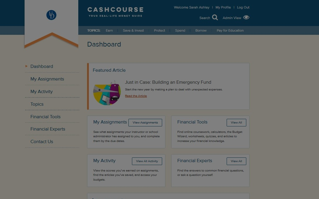 cash course screenshot