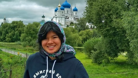 UD student Rebecca King toured one of Russia's cathedrals.