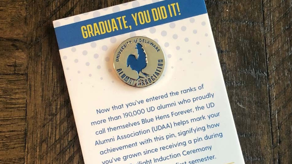 UDAA Alumni Association Pins.