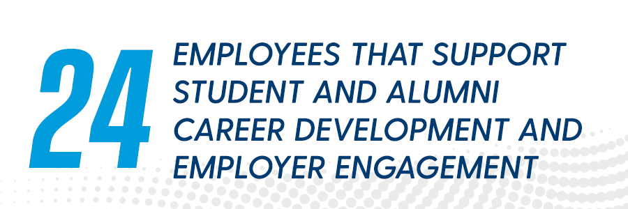 33 Employees support student and alumni career development