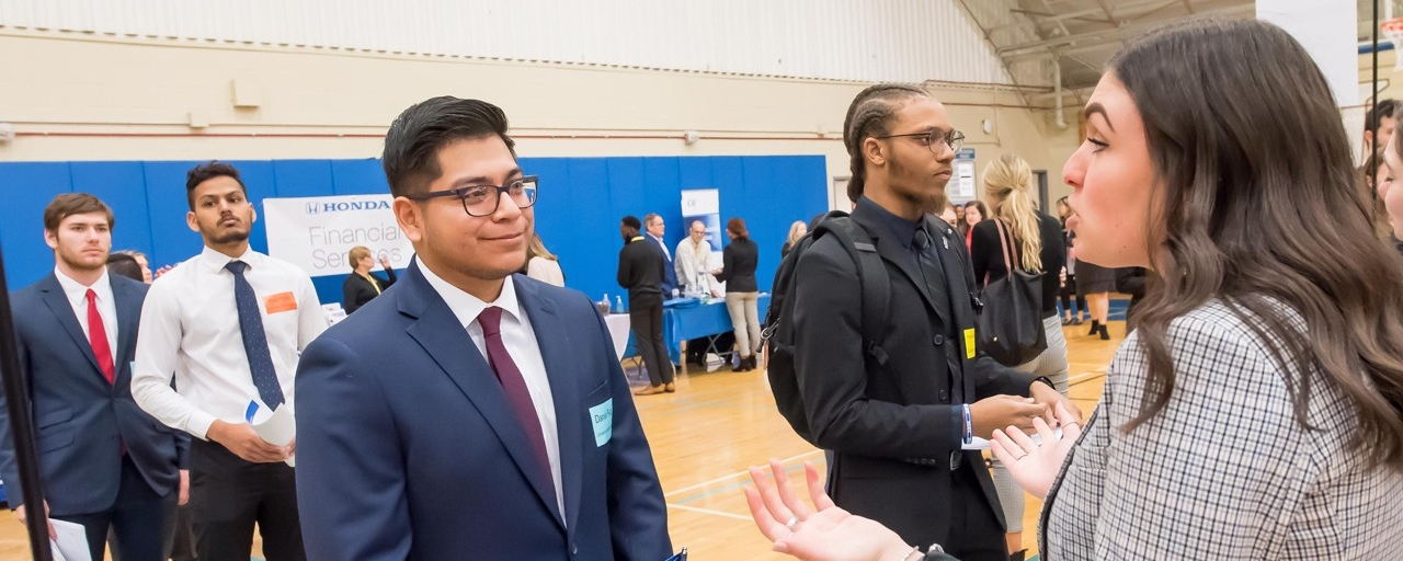 Photo of Students at a Career Fair