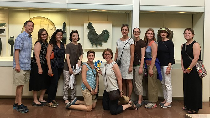 HDFS faculty members visit Greece