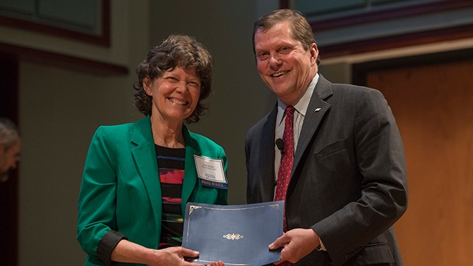 Mary Dozier receives UD's highest competitive faculty honor