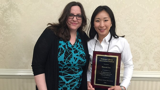 UD Library's Lee wins state award