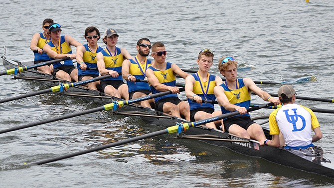 UD men's crew at Dad Vail Regatta