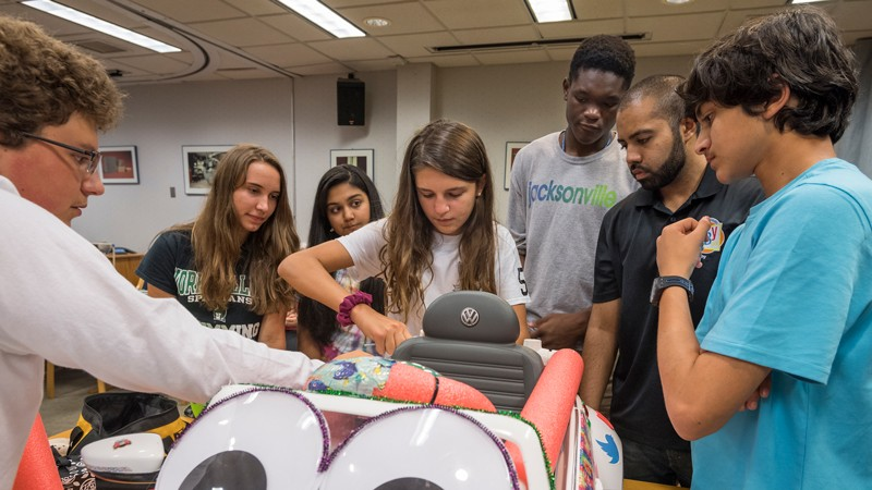 At UD summer camps, kids use engineering to help others
