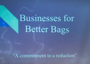 Students proposed a coalition called Business for Better Bags.