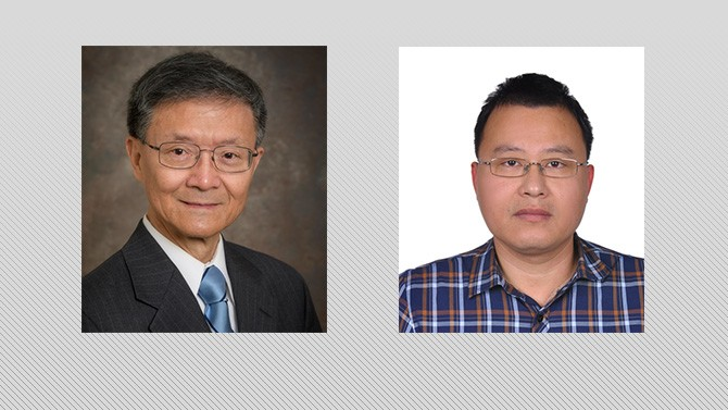 Tsu-Wei Chou and visiting scholar Jinsong Li