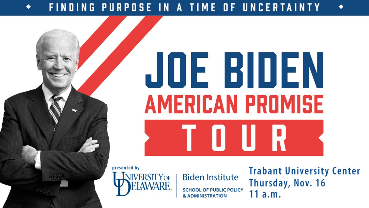 Joe Biden to speak at UD