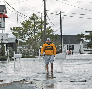 Coastal flooding in Fenwick during Hurricane Sandy in 2012.