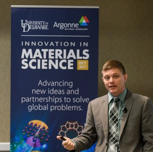Matt Doty, director of UD Nanofabrication Facility at Argonne National Laboratories Partnership Signing -10/19/17
