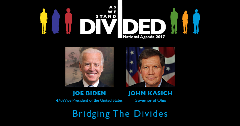 Joe Biden and John Kasich to discuss divides facing the nation.