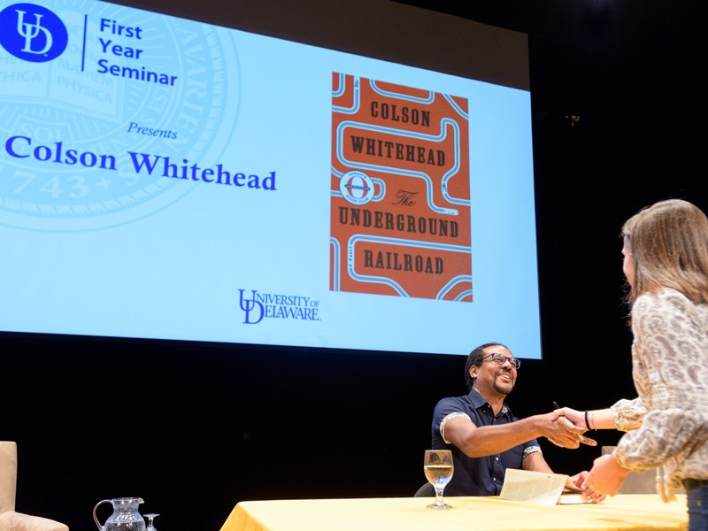 Novelist Colson Whitehead engages UD audience