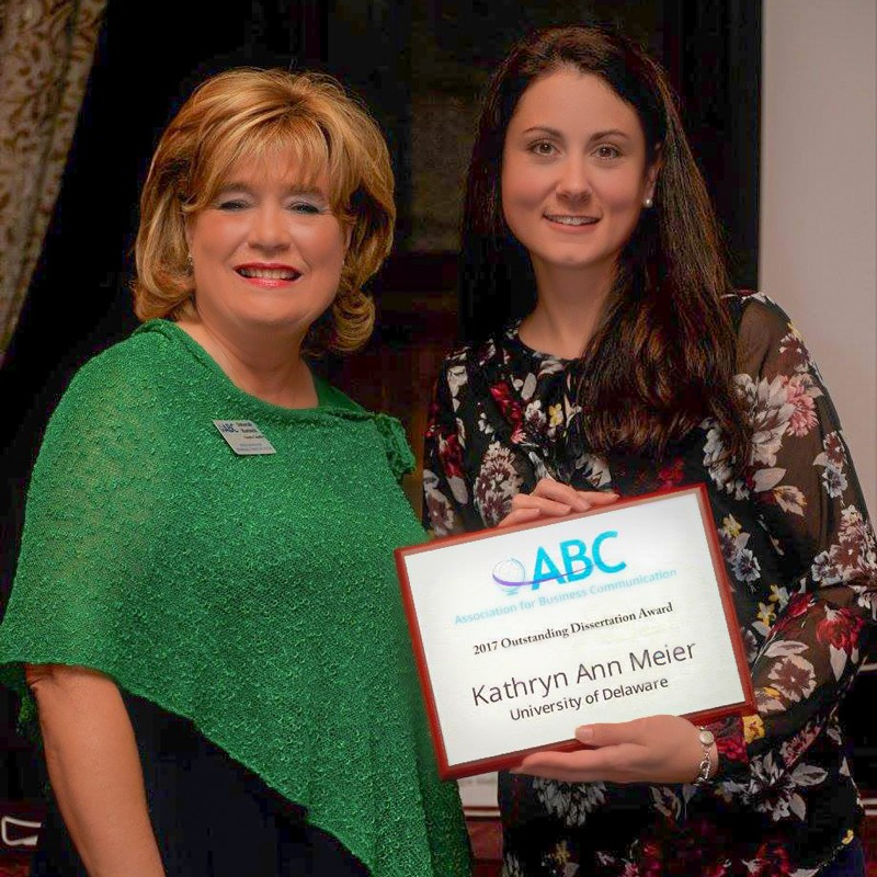 UD's Meier receives business communication award