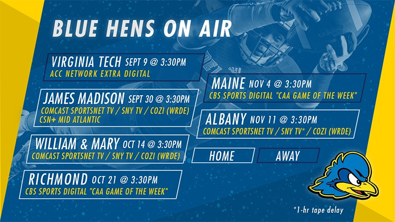 Blue Hens on Air graphic