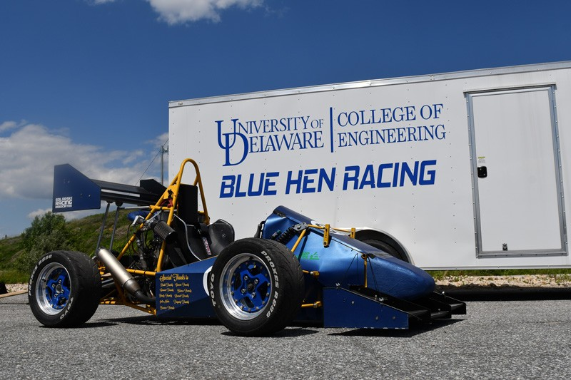 The Blue Hen Racing team's 2017 car marked UD's return to the Formula Society of Automotive Engineers' national competition.