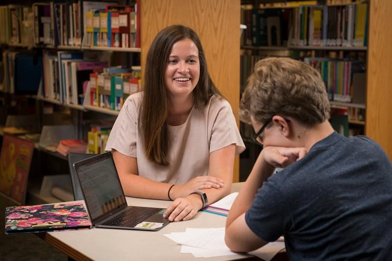 Student Cristina Ahrendt