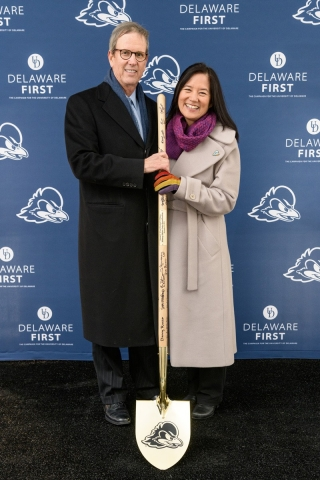 In their latest donation to UD, Ken and Liz Whitney gave $10 million to help fund renovations to Delaware Stadium and the construction of the Whitney Athletic Center.