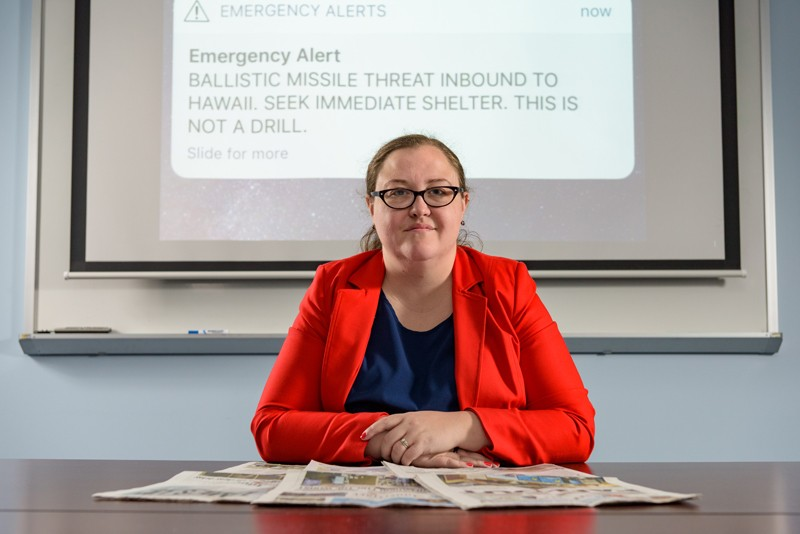 Jennifer Trivedi, a researcher with UD's Disaster Research Center, traveled to Hawaii to ask residents and visitors about the warning of a missile attack that turned out to be a false alarm.