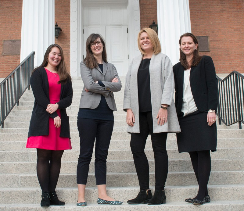 UD art history doctoral students (from left) Meghan Angelos, Emelie Gevalt, Galina Olmsted and Tiarna Doherty are part of the curatorial track program that is supported by the Mellon Foundation.