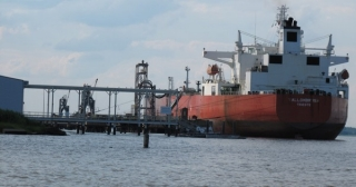 An oil tanker near Delaware City